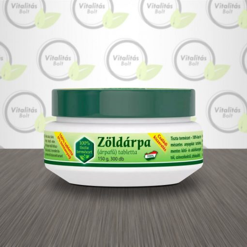 Zöldvér Program Zöldárpa 100% családi tabletta - 300 db