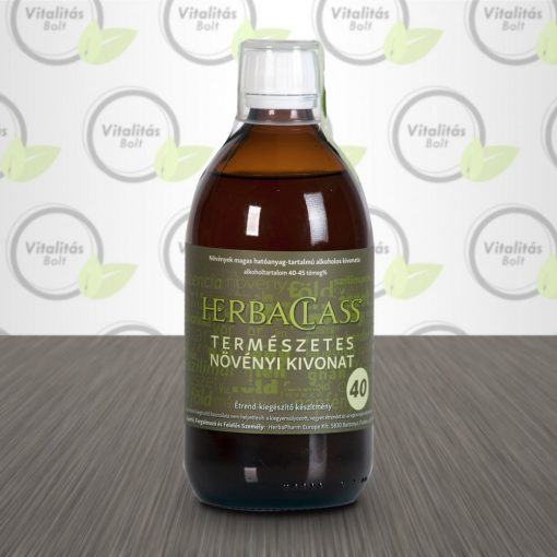"""HerbaClass Természetes növényi kivonat """"40"""" - 300 ml"""
