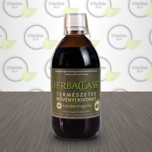 """HerbaClass Természetes növényi kivonat """"40"""" Kendermagolaj - 300 ml"""