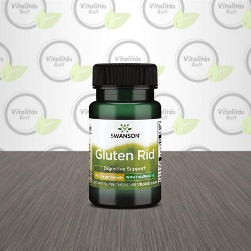 Swanson Gluten Rid (Tolerase G, glutén-bontó enzim) - 90 db