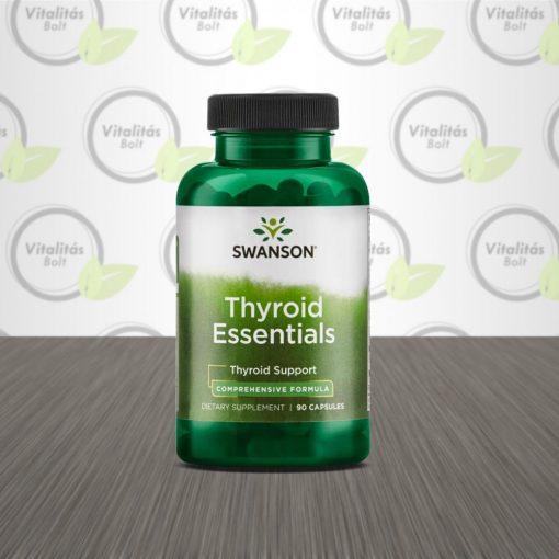 Swanson Thyroid Essentials - Pajzsmirigy komplex - 90 db